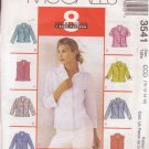 McCALL'S PATTERN 3541 SIZES 10/12/14/16 MISSES' SHIRTS IN 8 STYLES
