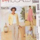 McCALL'S PATTERN 3568 MISSES' JACKET, TOP, PANTS, SKIRT SIZES 16/18/20/22 UNCUT