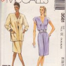 McCALL'S PATTERN 3581 MISSES' UNLINED JACKET & DRESS SIZES 14/16/18/20