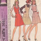 McCALL'S PATTERN 3651 MISSES' JUMPER WITH 3 NECKLINES SIZE 10 UNCUT