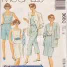 McCALL'S PATTERN 3680 SIZE 12  MISSES' JACKET, TOP, PANTS, SHORTS AND SKIRT