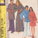 McCALL'S PATTERN 3738 SIZE SM  ADULT UNISEX ROBE