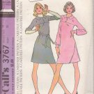 McCALL'S 1973 PATTERN 3767 SIZE 14 MISSES' DRESS IN 2 VARIATIONS