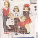 McCALL'S 1988 PATTERN 3834 GIRL'S SIZE 5 BLOUSE VEST SKIRT & PANTS