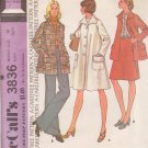 McCALL'S 1973 PATTERN 3836 SIZE 10  MISSES' COAT OR JACKET