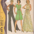 McCALL'S PATTERN 3852 SIZE 16 MISSES' DRESS OR TOP AND PANTS UNCUT