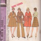 McCALL'S PATTERN 3888 MISSES' COAT OR TOPPER AND SKIRT SIZE 14 UNCUT