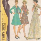 McCALL'S PATTERN 3892 MISSES' SIZE 12 1/2 DRESS