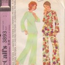 McCALL'S 1973 PATTERN 3893 SIZE 18 MISSES' PAJAMAS OR LOUGE SUIT