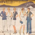 McCALL'S PATTERN 4019, DATED 1974 SIZE 16, MISSES' JACKET, SKIRT, TOP AND PANTS
