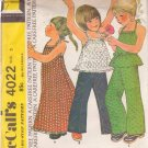 McCALL'S PATTERN 4022 SIZE 3 GIRL'S DRESS OR TOP & PANTS