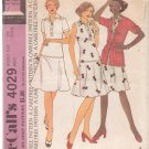 McCALL'S PATTERN 4029 SIZE 10 MISSES' DRESS AND JACKET