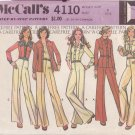McCALL'S 1974 PATTERN 4110 SIZE 8 MISSES' UNLINED SHIRT-JACKET AND PANTS