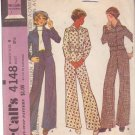McCALL'S PATTERN 4148 SIZE 8 MISSES' UNLINED JACKET AND PANTS