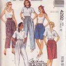 McCALL'S 1989 PATTERN 4292 SIZE 12 MISSES' SKIRT, PANTS, SHORTS, BELT UNCUT