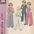 McCALL'S 1974 PATTERN 4299 SIZE 3 BOY'S JACKET, OVERALLS AND SHIRT UNCUT