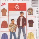 McCALL'S PATTERN 4164 CHILD'S SHIRTS IN 4 VARIATIONS SIZE 10
