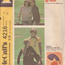 McCALL'S PATTERN 4216 UNISEX T-SHIRT, STOCKING OR ALI HAT SIZE 36 CHEST UNCUT