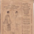 McCALL'S 1921 VINTAGE PATTERN 4542 SIZE 16 MISSES' 1921 DRESS IN 2 VARIATIONS