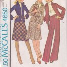 McCALL'S 1975 PATTERN 4650 SIZE 18 MISSES' JACKET, SKIRT AND PANTS UNCUT