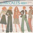 McCALL'S 1975 PATTERN 4661 SIZE 18 MISSES' JACKET, BLOUSE, SKIRT, PANTS UNCUT