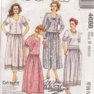 McCALL'S 1990 PATTERN 4688 SIZES 8 & 10 MISSES' TWO PIECE DRESS IN 4 VARIATIONS