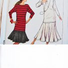SIMPLICITY 8165 PATTERN SIZE 14-20 MISSES' SKIRT & PULLOVER TUNIC