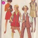 SIMPLICITY 8360 SZ 11/12 PATTERN DATED 1969 JR/TEEN JUMPER VEST SKIRT PANTS