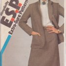 SIMPLICITY PATTERN 6196 SIZES 10-12-14 MISSES' SKIRT, UNLINED JACKET