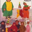 BUTTERICK PATTERN 5142 CHILDREN'S COSTUMES PUMPKIN, CLOWN,ANIMALS,DEVIL,WITCH