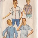 SIMPLICITY PATTERN 6285 SIZE 8 BOYS' SPORT SHIRT AND SHIRT-JACKET