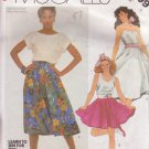 McCALL'S PATTERN 2009 SIZE 6 MISSES' SET OF 2 SKIRTS & POODLE APPLIQUE