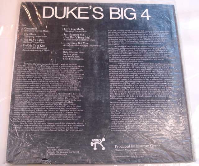 Duke Ellington Duk's Big 4 1974 LP