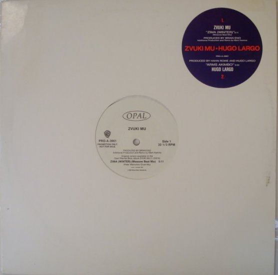"Zvuki Mu - Zima (Winter) Produced by Brian Eno 12"""