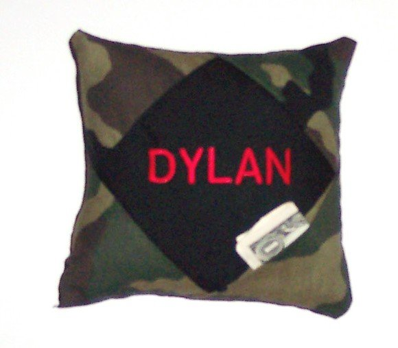 PERSONALIZED tooth fairy pillow CAMOUFLAGE