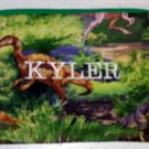 PERSONALIZED DINOSAUR ZIPPERED PENCIL CASE CRAYON BAG SCHOOL SUPPLIES