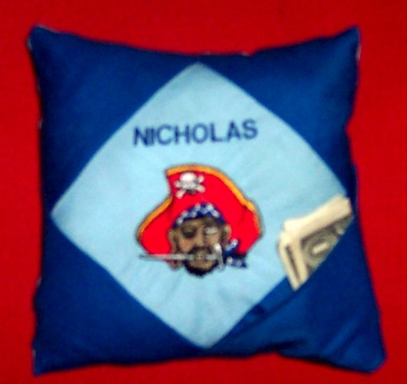 PERSONALIZED Tooth Fairy Pillow - PIRATE!
