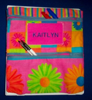 PERSONALIZED UNIQUE PENCIL CASE FOR GIRLS - ATTACHES TO YOUR BINDER!!!