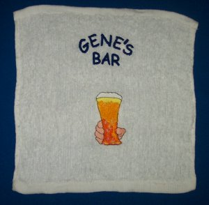 PERSONALIZED EMBROIDERED Bar Rag Towel - Great Gift for a bar owner!