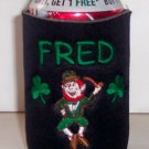 PERSONALIZED EMBROIDERED Kooze Can Cover - Irish Leprechan!