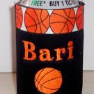 PERSONALIZED EMBROIDERED Koozie Can Soda Cover - BASKETBALL!
