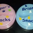 PERSONSONALIZED Adorable Baby Snack Cup with Spoon - design your own!!
