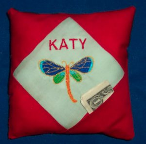 PERSONALIZED tooth fairy pillow - DRAGONFLY!!