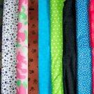 PERSONALIZED Fabric DOG COLLAR Pet ID Tag U pick fabric