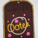 PERSONALIZED embroidered PACIFIER POUCH for diaper bag!