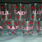 PERSONALIZED Decorated Plastic Shot Glasses - Great for your next party!