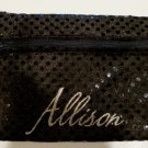 Personalized BLING Zippered  KEYCHAIN Sequined Purse Tote  many colors available