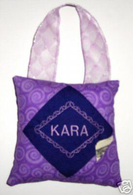 PERSONALIZED PURPLE Tooth Fairy Pillow for Girls!