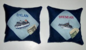 PERSONALIZED Tooth Fairy Pillow - BOAT THEME!!!
