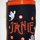 PERSONALIZED EMBROIDERED Koozie Can Cover for HALLOWEEN